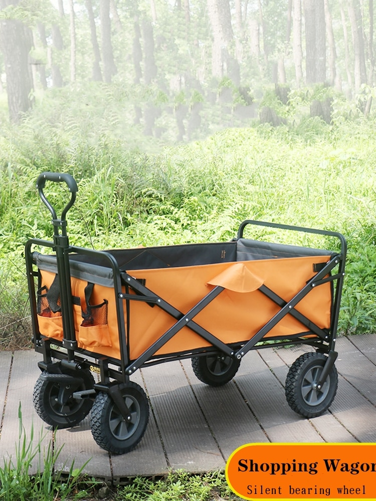 Garden Camping Folding Trolley Cart Wagon Strong Study Frame Perfect for Shopping Baby Carrier OutdoorsCamp Festivals