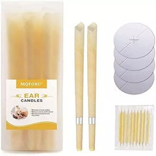 10 Pcs Ear Cleaner Ear Candles 10Pcs Remover Horn Earplug Tray Round Aromatherapy Care Ear Treatment