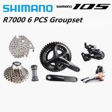 SHIMANO 105 R7000 2x11S groupe pédalier SS dérailleur arrière Cassette HG601Chain vélo de route vélo 11 vitesses Shimano groupe