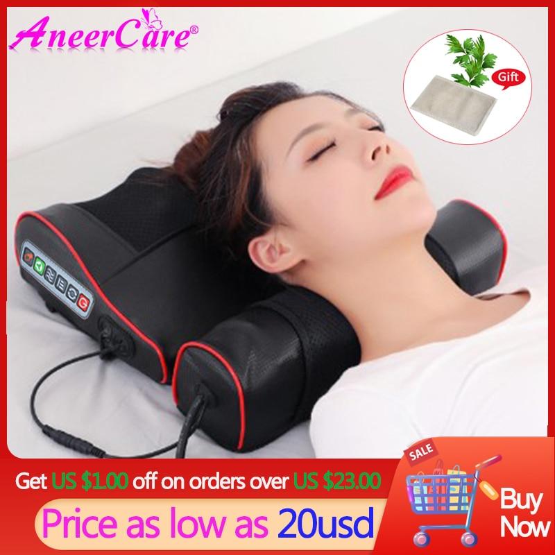 Cojín Masajeador eléctrico para el cuello, Masajeador De espalda, infrarrojo, relajante, De...