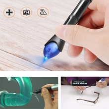 3 / 5 second 14cm  With Glue Super Powered Liquid Plastic Welding Compound 3/ UV Light Repair Pen Uv Light Fix Tool