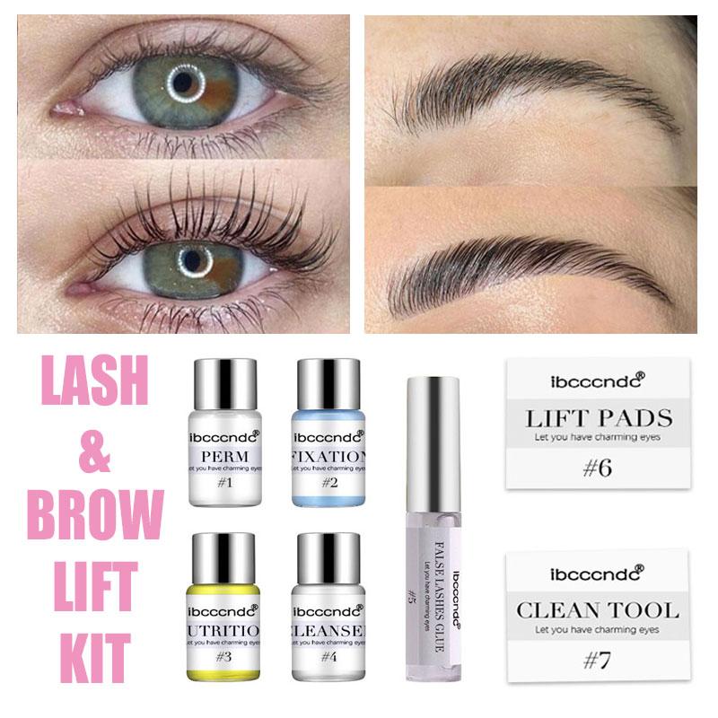 pro eye lash Pro Eye Lash & Brow Lift Perming Eyelash Lift Extension Kit Curling Eye lash Perming Lotion for Home Use Salon Brow Lamination
