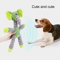 the new pet vocal chew toy cartoon animal shape anti bite plush molar toy relieves boredom tooth cleaning supplies