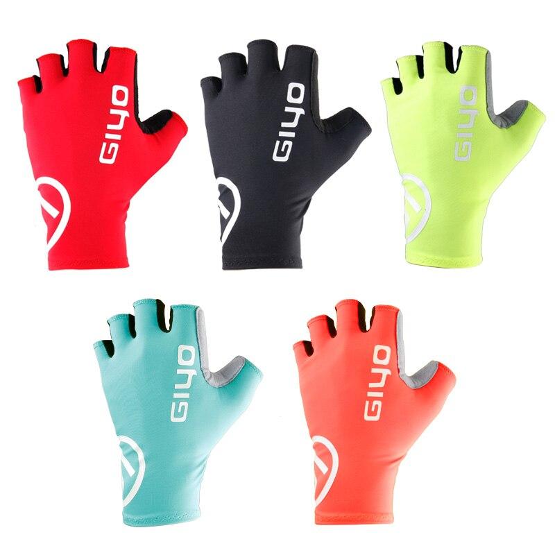 Giyo-Guantes antideslizantes de medio dedo para Ciclismo, accesorio para bicicleta de montaña...