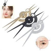 1pc microblading three point eyebrow ruler permannet makeup bow and arrow line ruler measuring grooming stencil tattoo pmu tools
