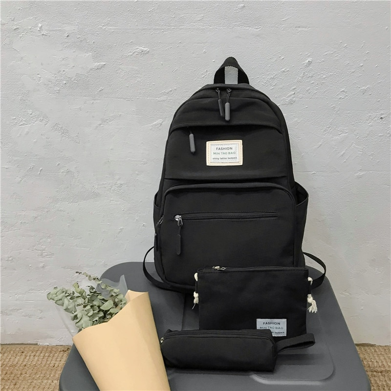 3 set New Casual Backpack Laptop Cute School Bags for Teenage Girls Women Backpack Travel Teen Shoulder Bag Child Mochilas