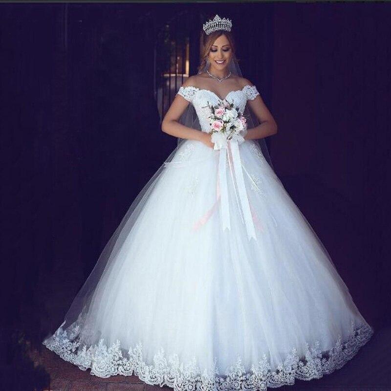 Lujoso 2021-Apliques para vestido de novia de vestido de baile barato de...