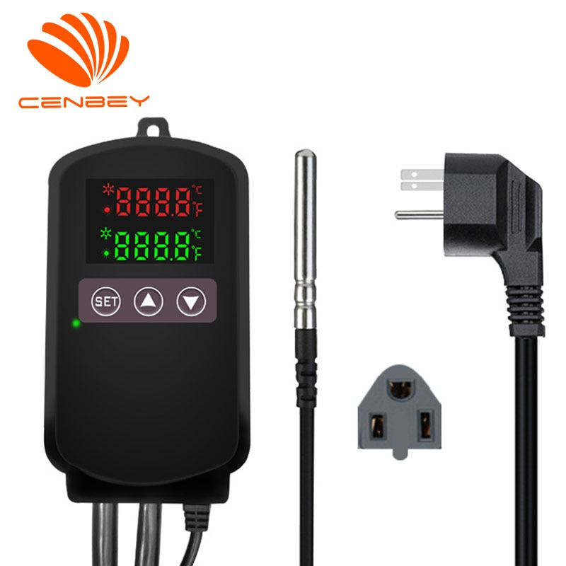 US EU plug digital temperature controller thermostat regulator for incubator floor heating wall warming pets Fish mat greenhouse
