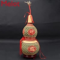 high end luxurious and simple natural gossip gourd ornaments household chinese decoration gourd lucky portable wine gourd