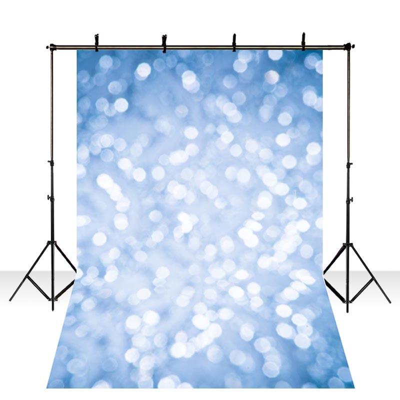 Fondo de fotografía de vinilo destellos DAWNKNOW para fondo de sesión de fotos azul brillante para estudio de foto de boda lv2204