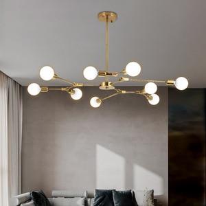 Modern Led Pendant Lamp Gold Lighting Fixture Hanging Living Bedroom Nordic Restaurant Dining Decor Luminaire Suspension Lights