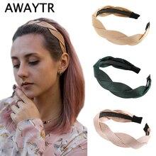 Женский ободок для волос AWAYTR, мягкий ободок в Корейском стиле, простой аксессуар для волос