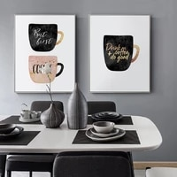 but first coffee colorful cups coffee kitchen prints poster nordic canvas paintings wall art pictures living room home decor
