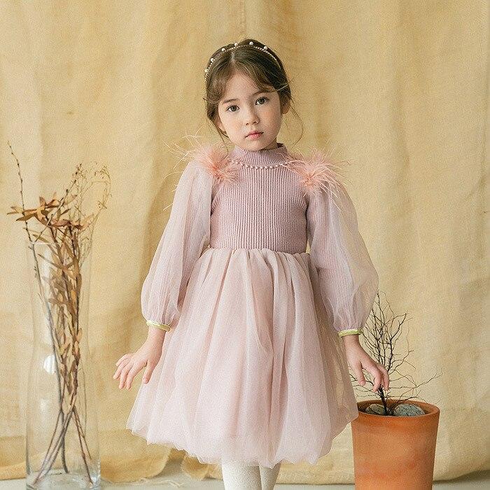 Girls dress velvet  clothes children's clothing gauze princess dress 2019 new winter clothes