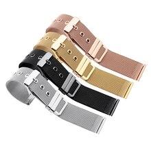18mm 20mm 22mm 24mm milanais boucle Bracelet Bracelet hommes femmes universel en acier inoxydable or noir Bracelet Bracelet Bracelet accessoires