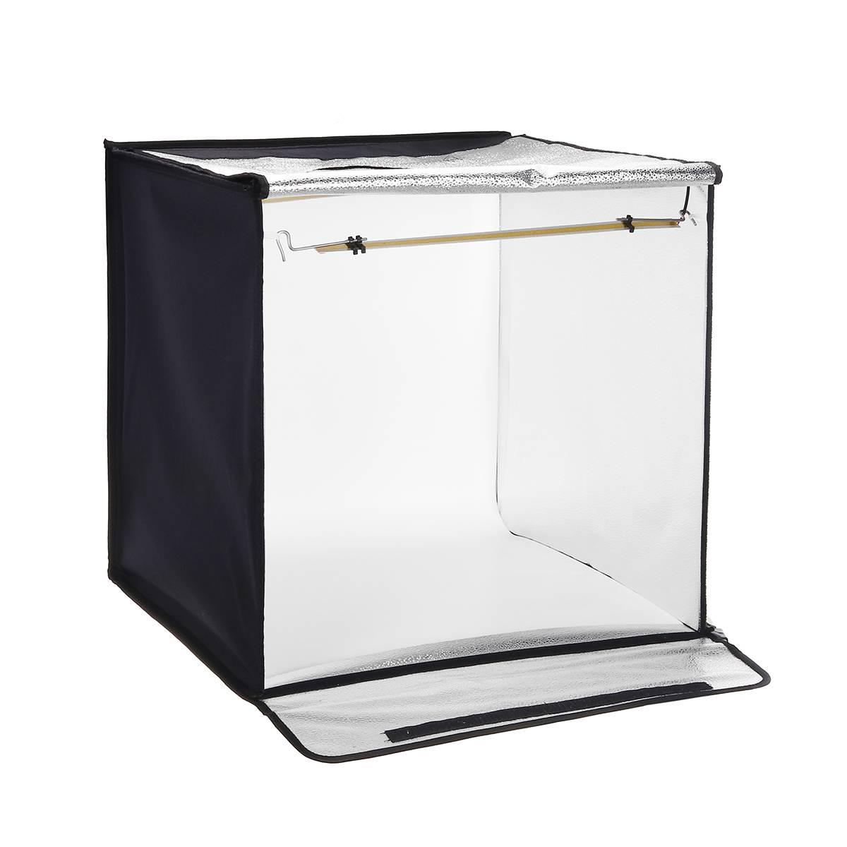 60*60cm 24 polegadas portátil mini photo studio box led softbox 46 w 5000 k luz branca iluminação foto estúdio tiro tenda caixa kit