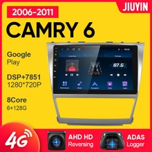 JIUYIN Android Car Radio For Toyota Camry 6 40 50 2006-2011 Multimedia Video Player Navigation GPS N