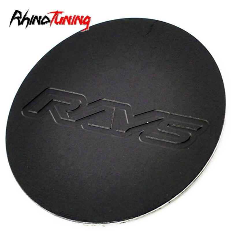 4 Uds. 53mm pegatinas de emblema de rayos para el centro de la rueda del coche tapas del cubo cubre la etiqueta de la insignia del ABS