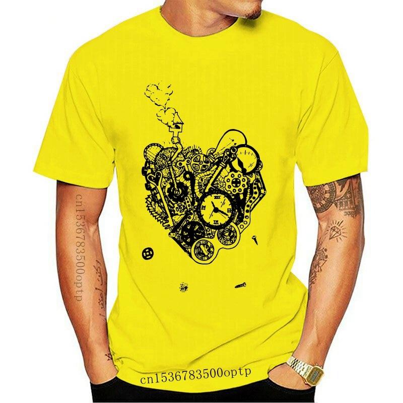 New Steampunk Heart T-Shirt Kids Boys Girls Clock Mechanical cogs steam