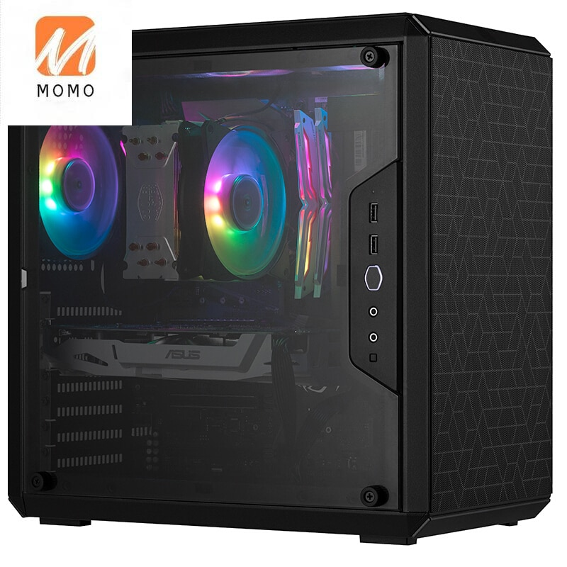 Masterbox Q500l كمبيوتر مصغر هيكل صغير كامل الجانب سطح المكتب الشفاف المضيف ATX