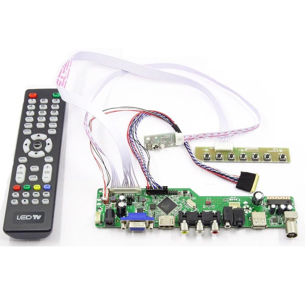 Latumab kit para b173rw01 v.3 v3 tv + hdmi vga usb lcd led tela controlador placa motorista