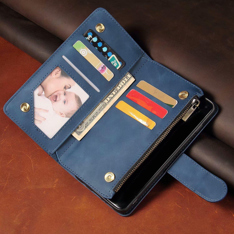Cartera de cuero de lujo L4, estuche de cremallera para Sony Xperia L4, funda de teléfono magnética con tapa, funda con soporte para tarjetas, Funda de cuero pintado para móvil