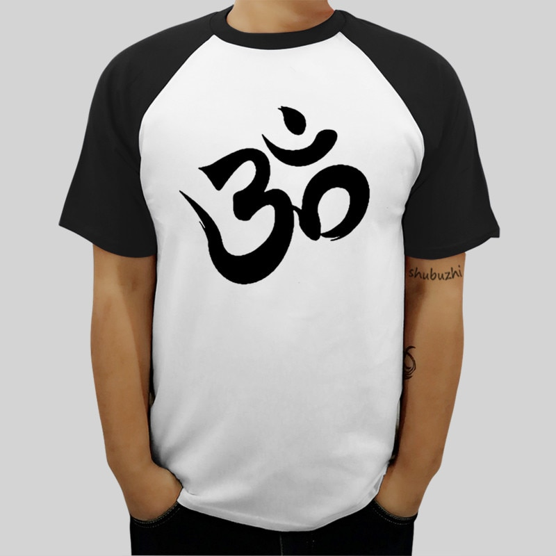 Camiseta para hombre, camiseta con patrón para hombre, nueva camiseta a la moda camisetas de la marca Shubuzhi Aum Om Ohm para hombre