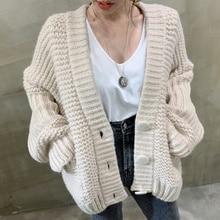 Cardigan Sweater Korean Chic Early Autumn Gentle Big Loose And Versatile Long Sleeve Medium And Long