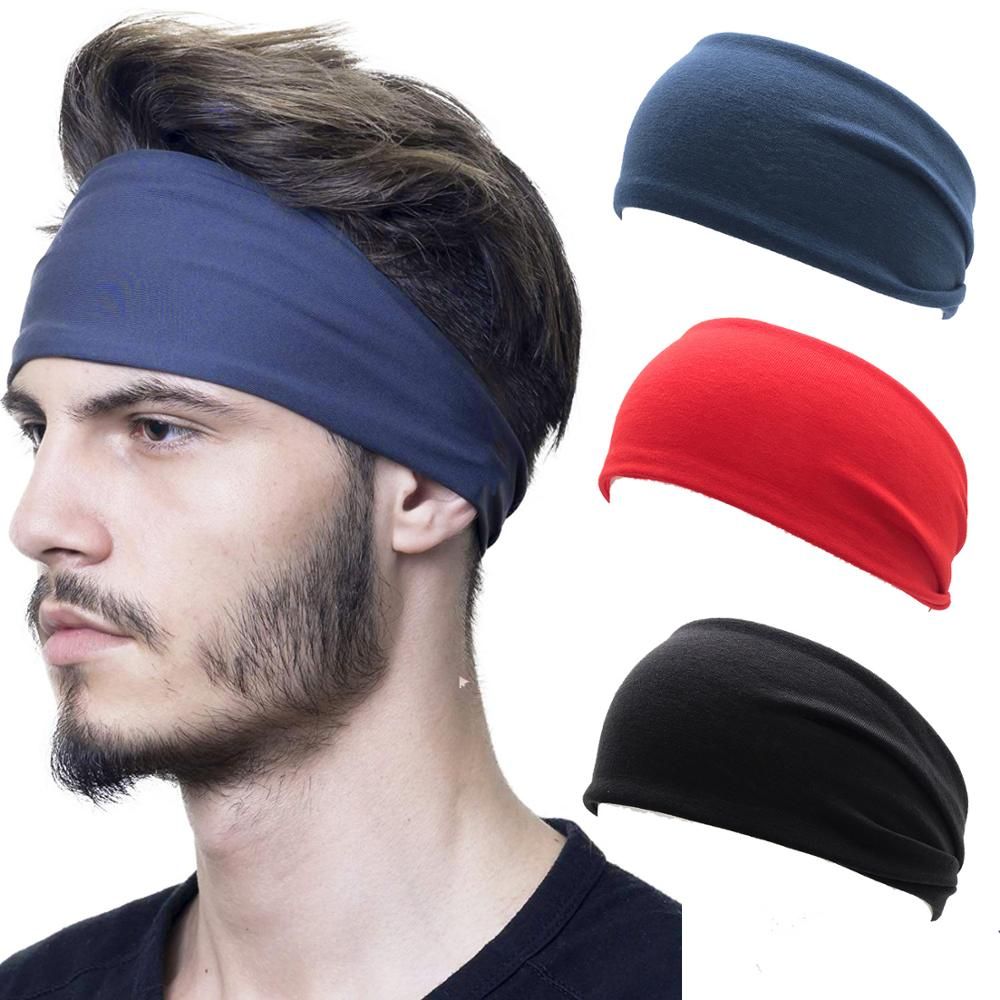 Solid Yoga Headband men Multicolor Gym Fitness Running Yoga Hairband Elastic Sports Headband Women Hair Accessories