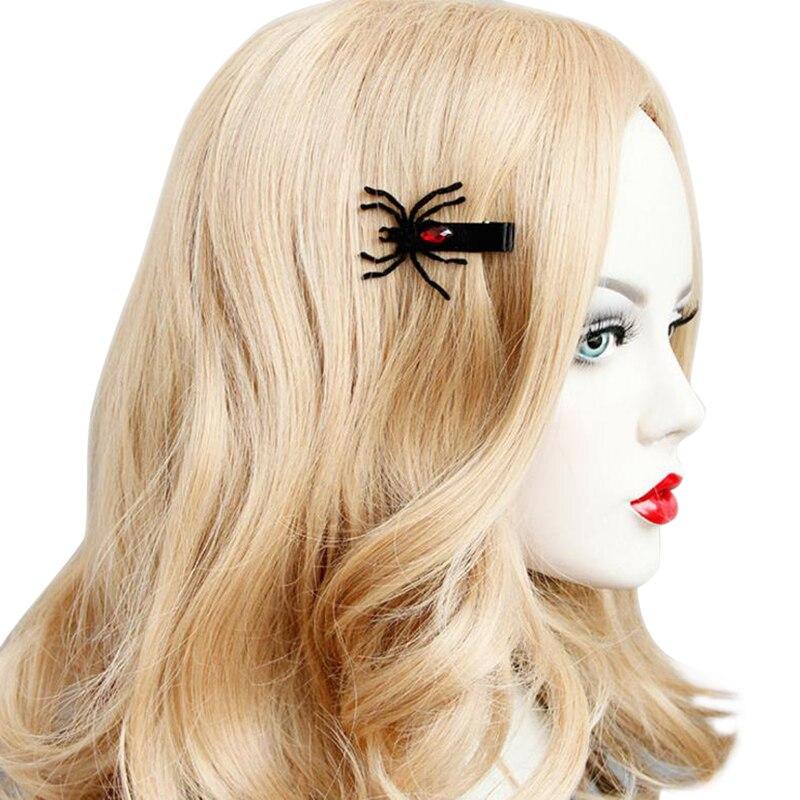 Horquillas de araña creativas a la moda para niñas, accesorios de disfraces de fiesta de Halloween, accesorios divertidos para el cabello
