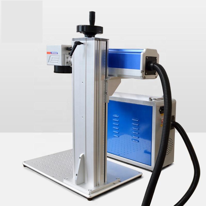 JW رائجة البيع المحمولة آلة التعليم بليزر الألياف 20 واط للبلاستيك الصلب النقش المعادن بيع