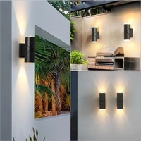led outdoor waterproof wall lamp balcony outdoor courtyard double head wall lamp simple hotel rotatable outdoor lighting