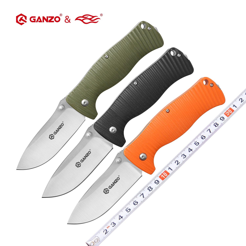 الأصلي غانزو G720 Firebird F720 440C شفرة G10 مقبض سكين للفرد بقاء أداة تخييم سكين جيب التكتيكية] أداة خارجية