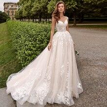Travel-robe de mariée en dentelle Scoop A, robe de mariée élégante en dentelle, avec manches capes, robe de mariée pour mariée, Train Court, grande taille