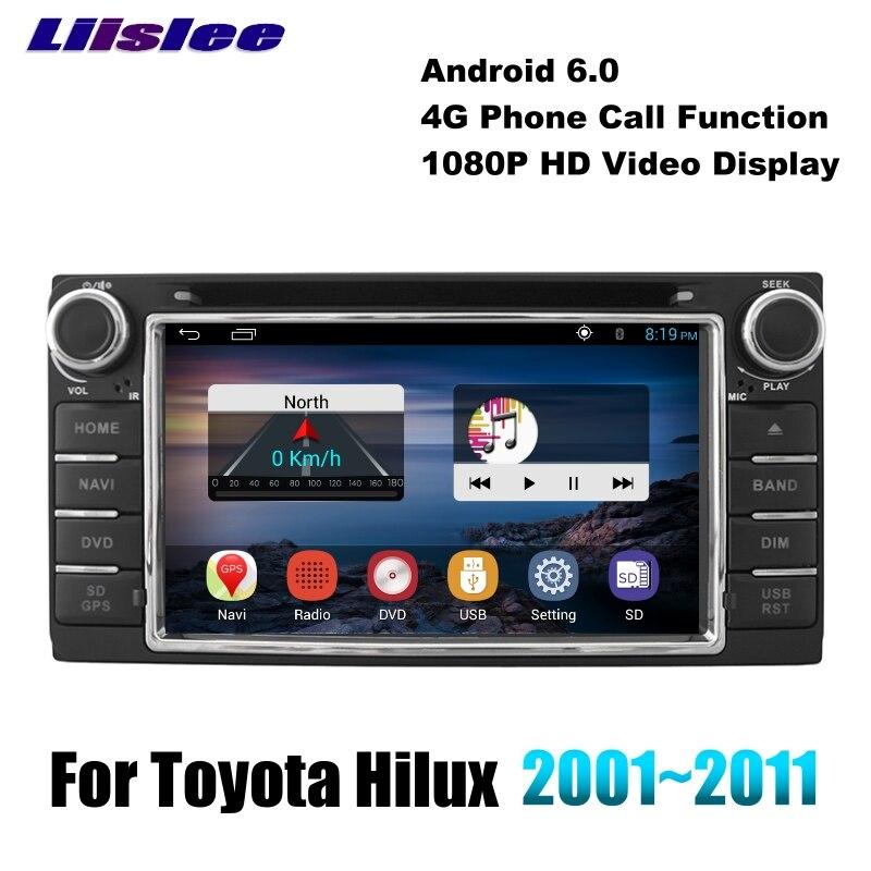 Para Toyota Hilux N140 N150 N160 N170 AN10 AN20 AN30 LiisLee Multimedia TV DVD player Wifi GPS de Audio de alta fidelidad Radio navegación NAVI