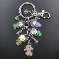yuri on ice new acrylic manual anime keychain cartoon key ring transparent flash pagoda ball beads schoolbag decoration