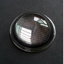 1 Piece Diameter 35mm High Power Led optical lenses Transparent Flashlight Aspheric photics Glass Plano convex Lens