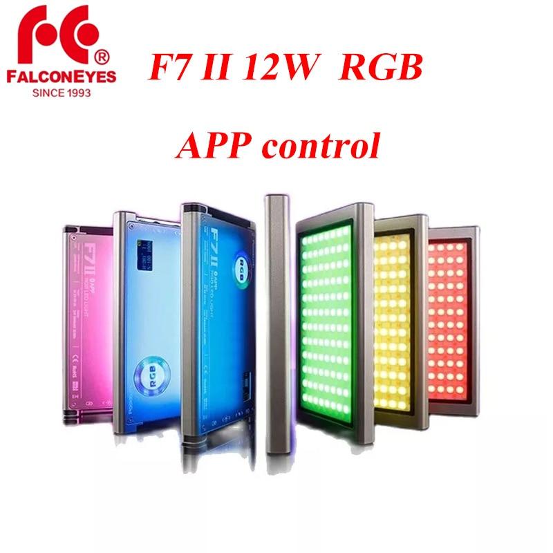 Falcon Eyes F7 II Mini Pocket Light 12W RGB LED ، مصباح الكاميرا المحمول ، للفيديو ، الاستوديو ، Youtube ، الصور