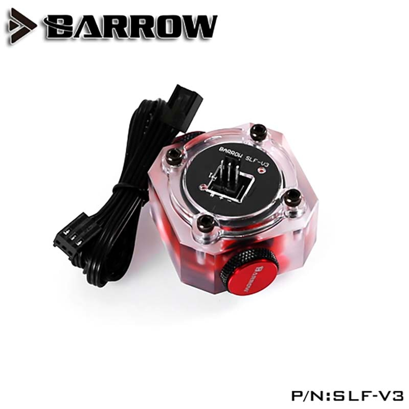 Barrow PC water cooling Flow meter Electronic data version for water cooler system G1/4 connector SLF-V3