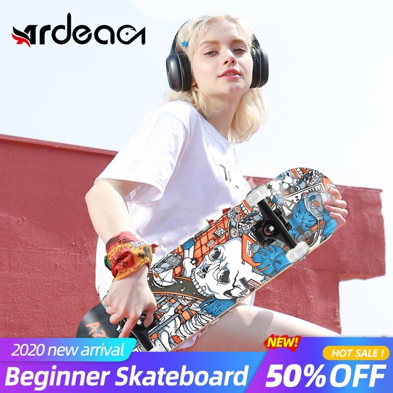 MS103 Beginner Skateboard 79cm/31in Russia Maple wood Deck Skill Double Rocker Skate Board Four wheels boy and girl Adults board