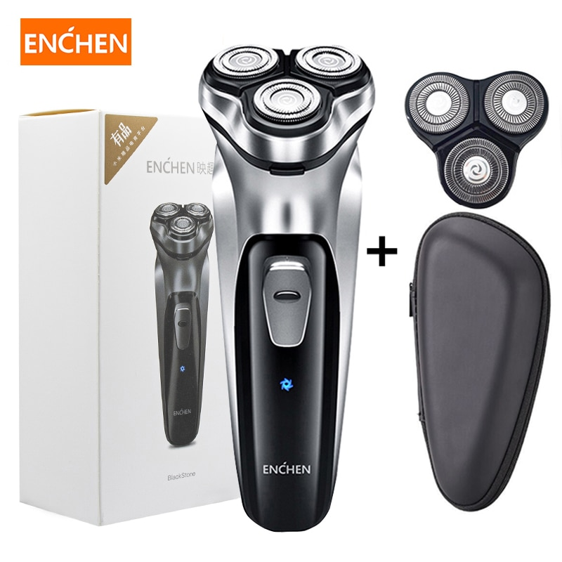 Enchen Men Electric Shaver Type-C USB Rechargeable Razor 3 blades portable beard trimmer cutting machine for sideburns