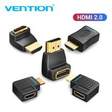 Vention HDMI extensor macho a hembra 270 90 grados ángulo recto HDMI convertidor adaptador acoplador para Monitor TV PS4 HDMI conector