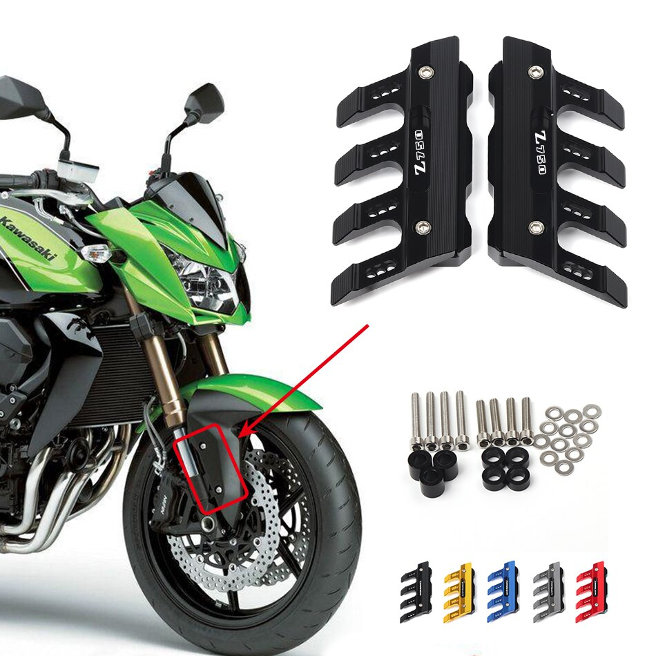For Kawasaki Z750 Z800 Z900 Z1000 Z1000SX  Universal Motorcycle Guard Accessories Front Fender Slider Protector Mudguard Cover motorcycle frame slider protector for kawasaki z1000 z1000sx z1000 sx 2010 2019 z900 2017 2018 2019 cnc aluminum engine guard