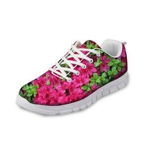 HaoYun Fashion Women Sneaker Shoes Plant Flowers Design Prints Girls Flat Walking Shoes Breathable Ladies Footwear Zapatillas
