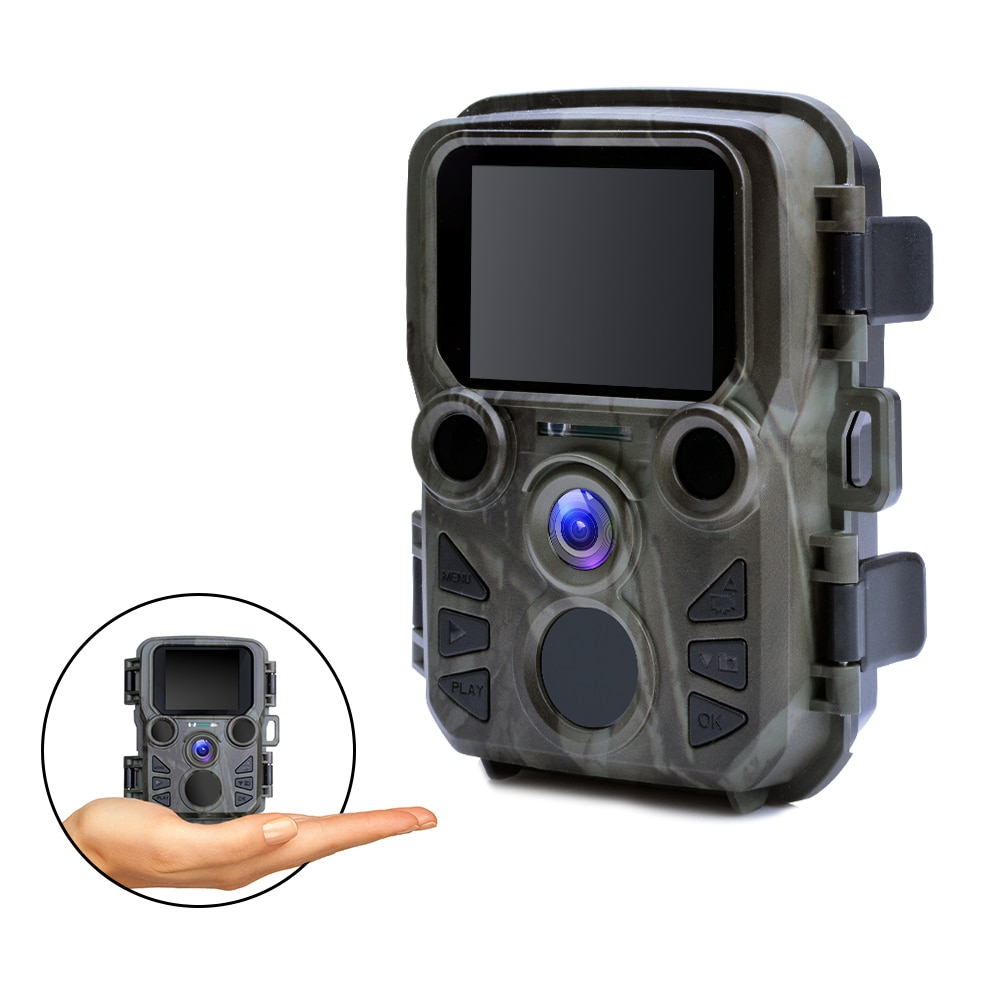 mini trail game camera night vision 1080p 12mp waterproof hunting camera outdoor wild photo traps with ir leds range up to 65ft Mini Hunting Camera 1080P 12MP Night Vision trail Camera photo traps outdoor Wildlife Camera with IR LEDs Scout animal camera