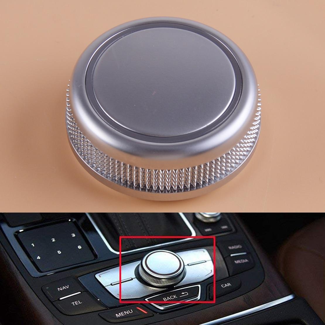 Beler chrome mmi botão de controle do carro rotativo menu navegação capa apto para audi a6 s6 c7 a7 rs6 rs7 4g0919069 2014 2015 2016 2017