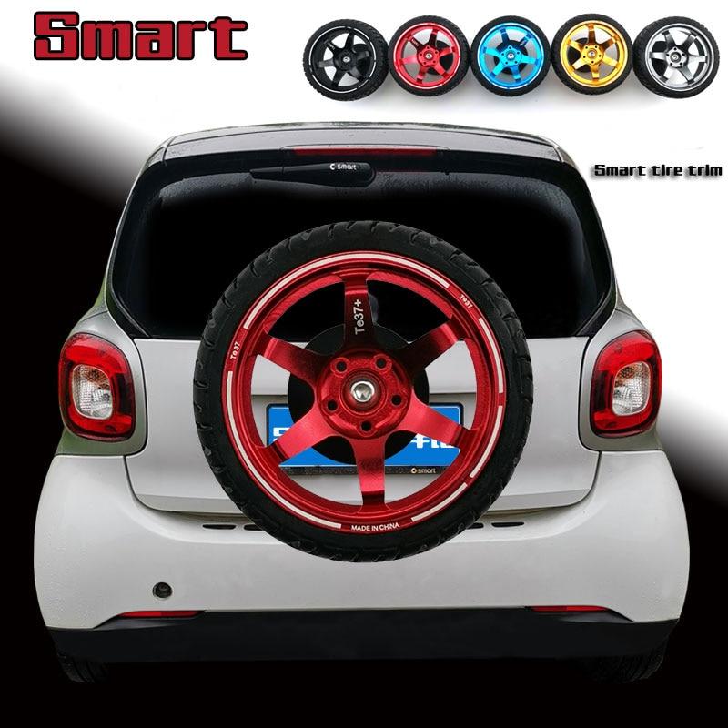 Car Trunk Back Door Handle Rear Door Glass Knob Exterior Decor Tire Trim Sticker For Smart fortwo forfour 451 453 Accessories