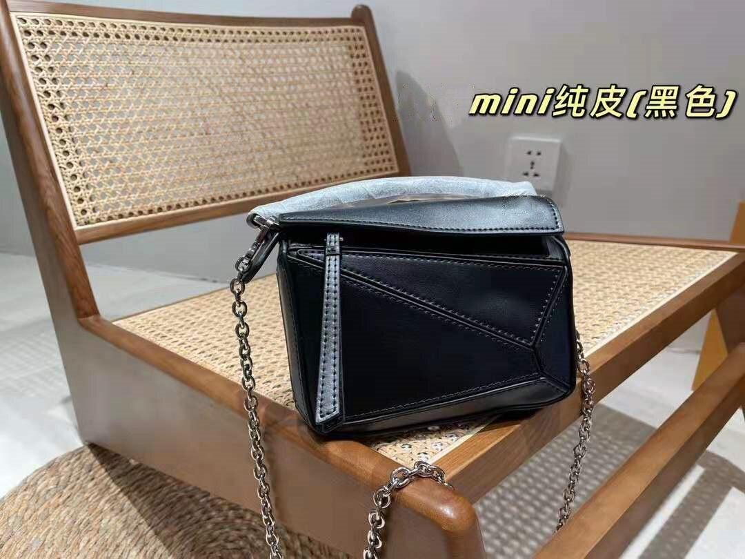 السيدات الفاخرة العلامة التجارية مصمم حقيبة يد جلدية هندسية صغيرة crossbody حقيبة صغيرة حقائب جلدية للنساء