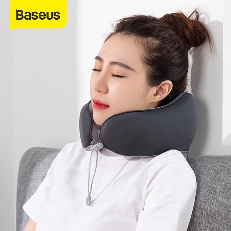 Almohada de espuma de memoria en forma de U de Baseus, almohada de viaje, almohada de viaje Suave lento de rebote, almohada de viaje, cuello sólido Cervical para siesta en la oficina
