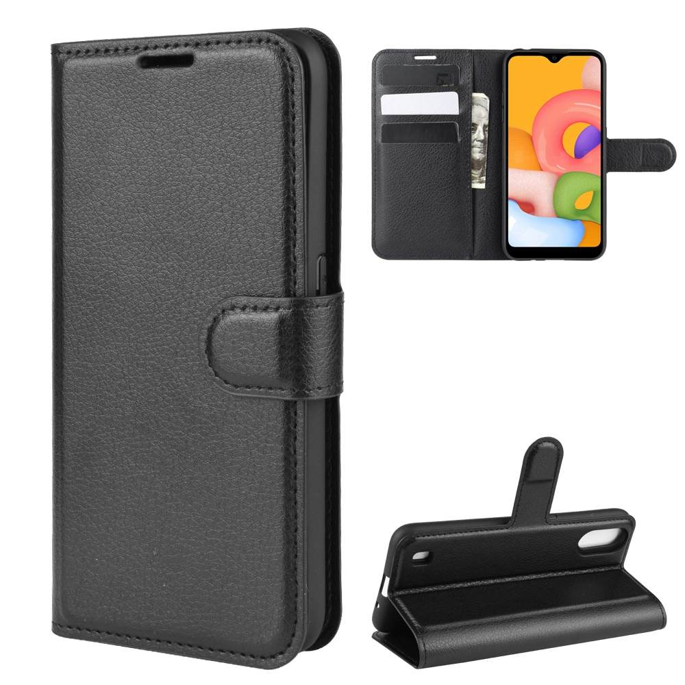 For Samsung Galaxy A01 Case SM-A015F Soft Silicone insert Flip Wallet Leather Case For Samsung A01 Cover Kickstand Phone Bag